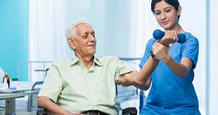 Therapist providing Physiotherapy at home