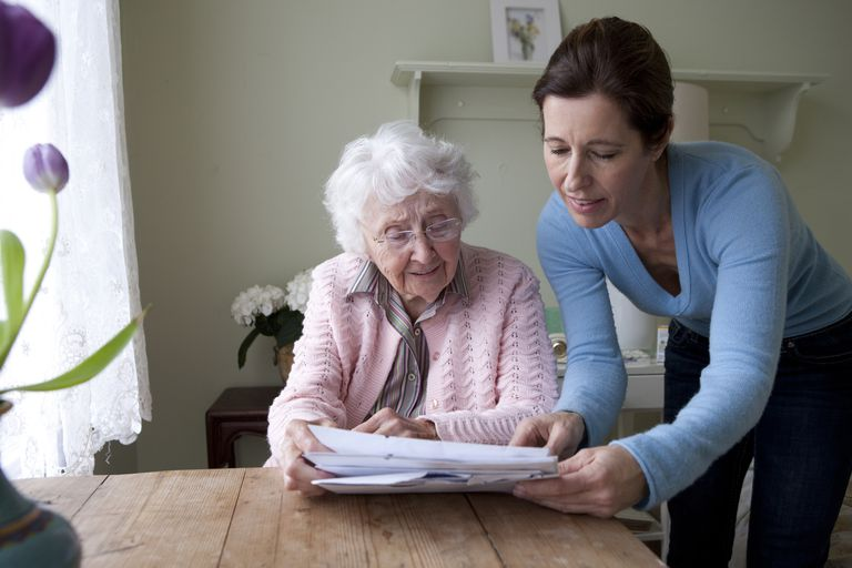 elder receiving Nursing care and attendants